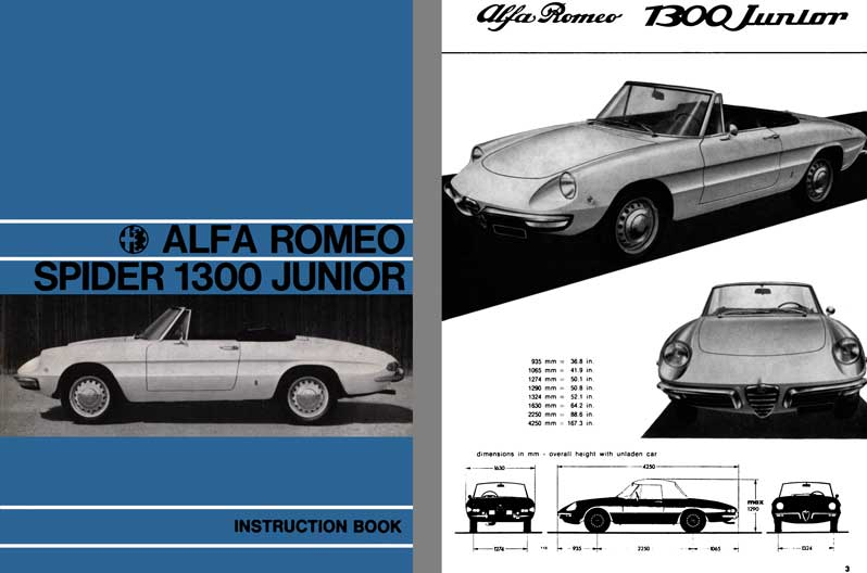 Alfa Romeo 1968 - Alfa Romeo Spider 1300 Junior Instruction Book