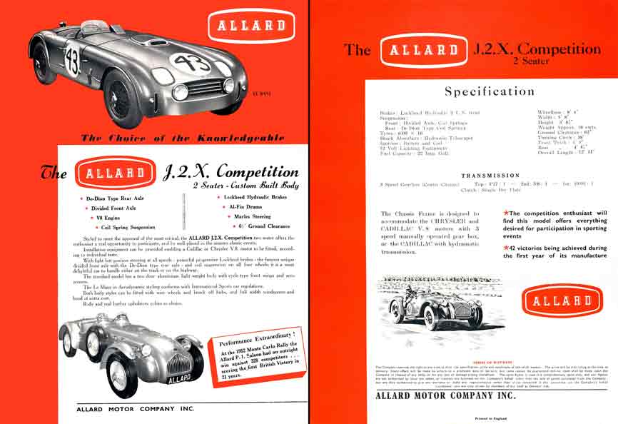 Allard J2X Competition (c1952) (Color) - The Choice of the Knowledgeable