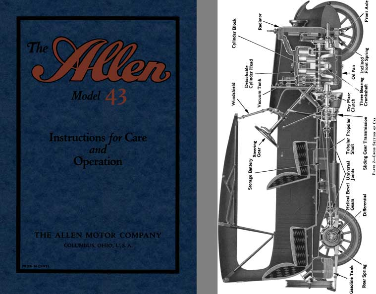 Allen 1921 - The Allen Model 43 - Instructions for Care and Operation