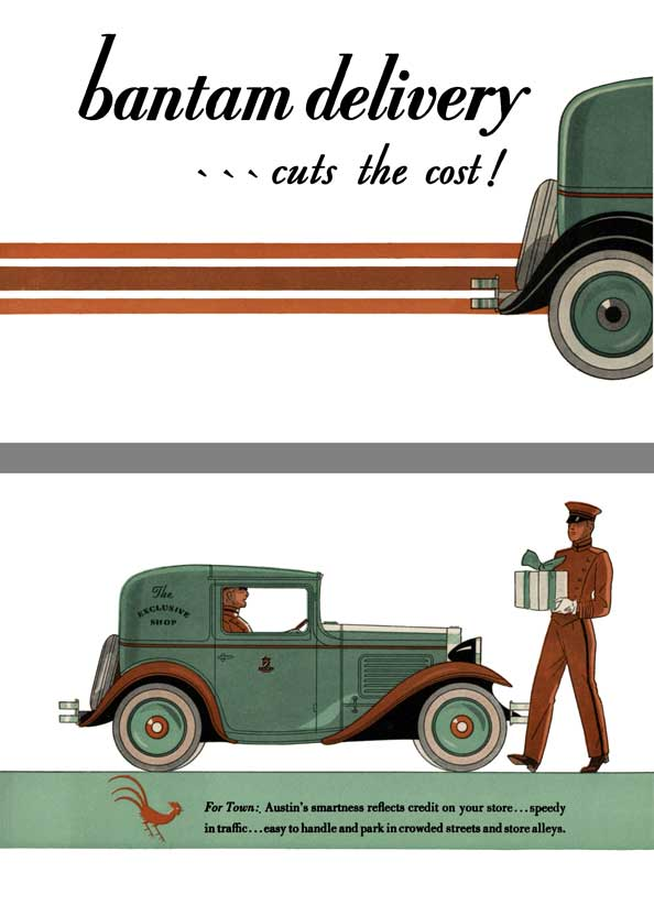 American Austin 1931 - Bantam Delivery � Cuts the Cost!