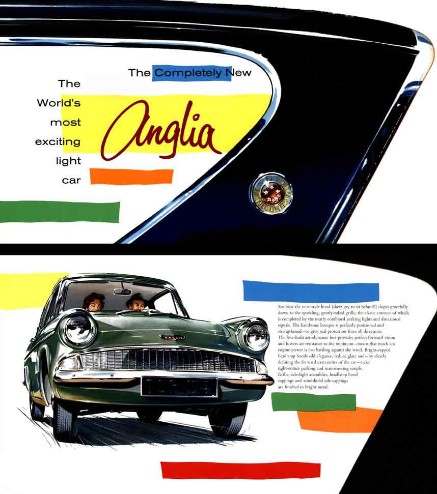 Anglia 1959 Ford - The Completely New Anglia - The World's most exciting light car