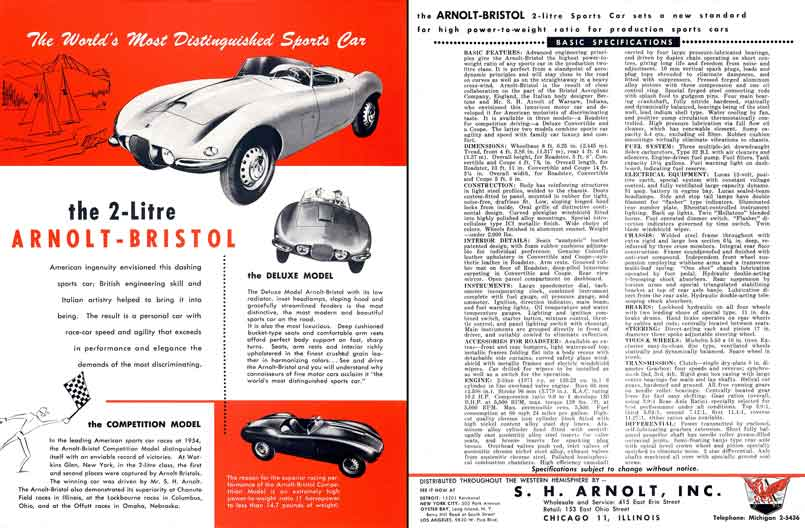 Arnolt Bristol Competition & Deluxe (c1956) - The World's Most Distinguished Sports Car