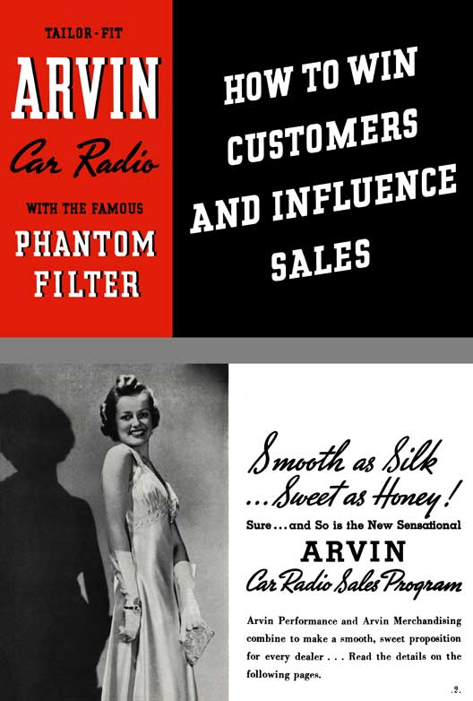 Arvin Car Radio 1938 - Tailor Fit Arvin Car Radio - How to Win Customers and Influence Sales