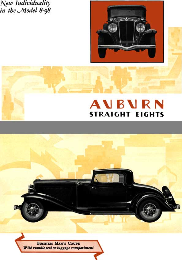 Auburn 1931 - Auburn Straight Eights - New Individuality in the Model 8-98