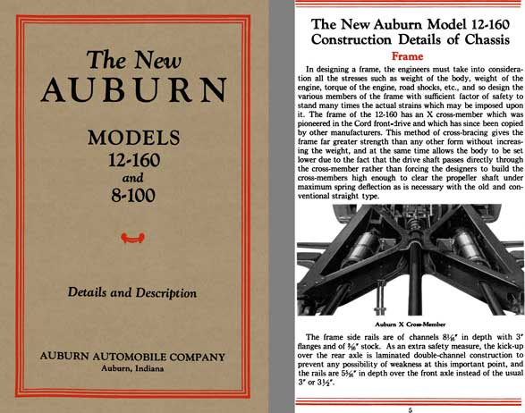 Auburn 1932 - The New Auburn Models 12-160 and 8-100 Details and Description