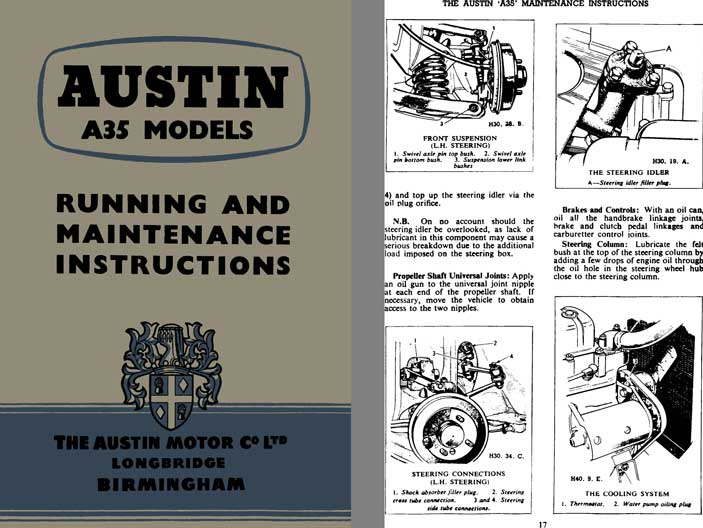 Austin 1957 - Austin A35 Models Running and Maintenance Instructions Manual 3rd Edition