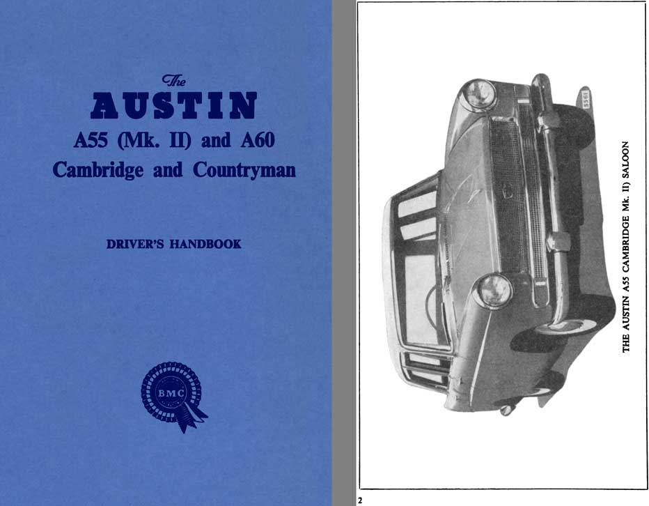 Austin 1962 - The Austin A55 Mk II and A60 Cambridge and Countryman Driver's Handbook AKD1026G