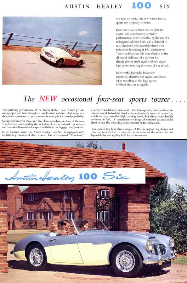 Austin Healey 100 Six 1958 - The New Occasional Four-Seat Sports Tourer