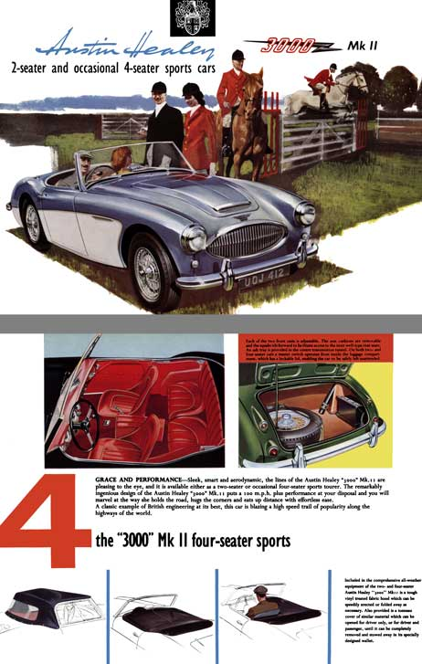 Austin Healey 1962 - Austin Healey 3000 Mk II 2-Seater and Occassional 4-Seater Sports Cars