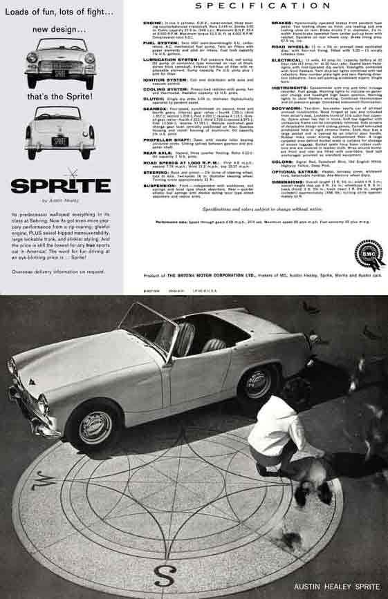 Austin Healey Sprite 1961 - Loads of fun, lots of fight, new design, that's the Sprite!