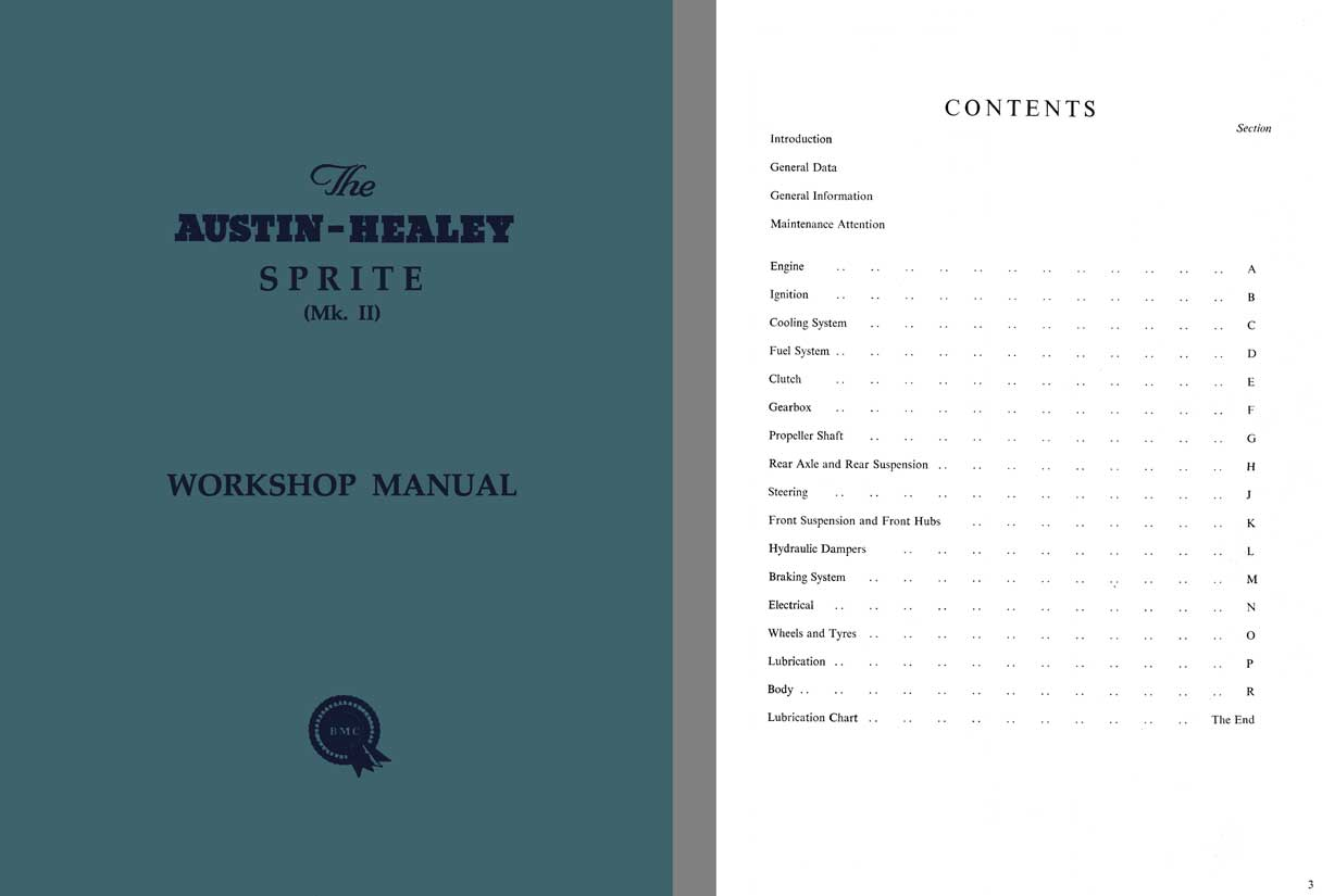 Austin Healey Sprite MK II - Workshop Manual c1961