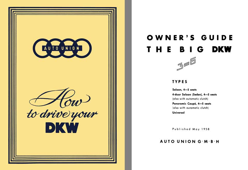 Auto Union 1958 - 1958 Auto Union How to Drive Your DKW - Big DKW 3-6