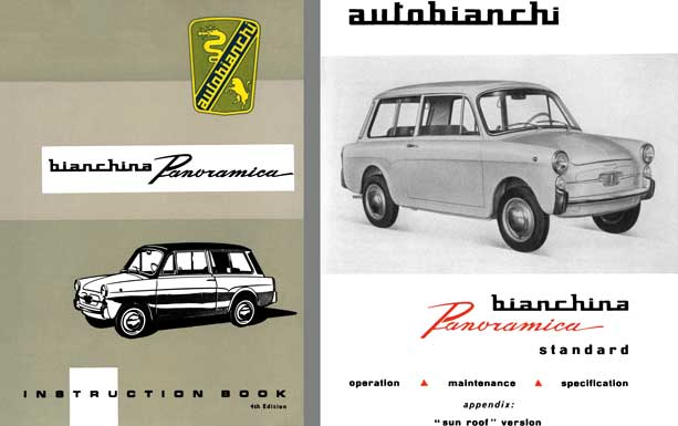 Autobianchi 1966 - Bianchina Panoramica Instruction Book 4th Edtion