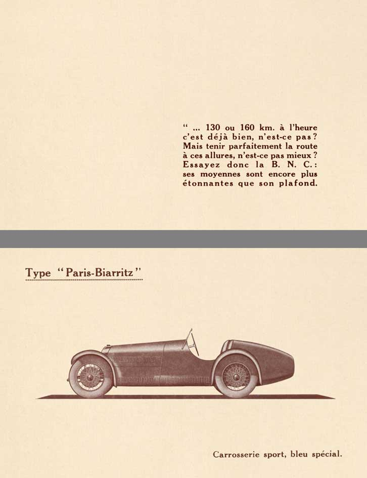 B.N.C. 1929 - Description du Chassis B.N.C. (In French)