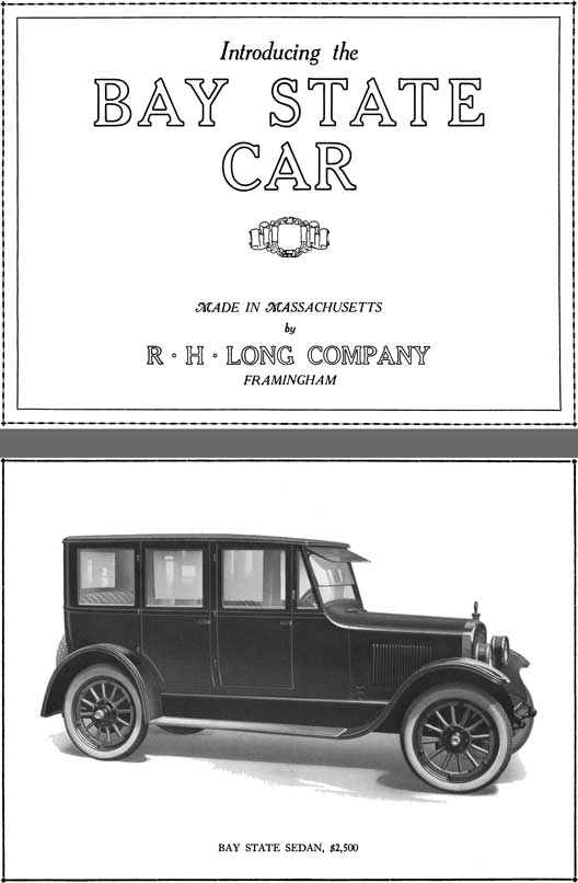 Bay State 1922 - Introducing the Bay State Car
