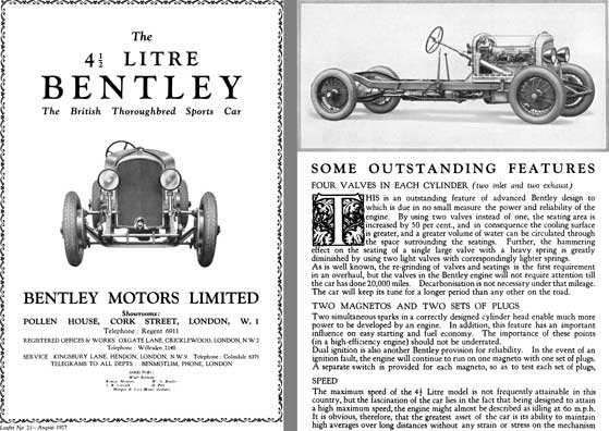 Bentley 1927 - The 4-1/2 Litre Bentley - The British Thoroughbred Sports Car