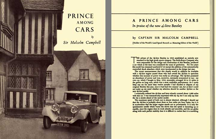 Bentley 1936 - Prince Among Cars by Sir Malcolm Campbell