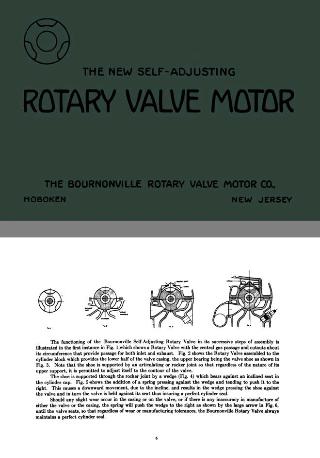 Bournonville 1922 - The New Self Adjusting Rotary Valve Motor