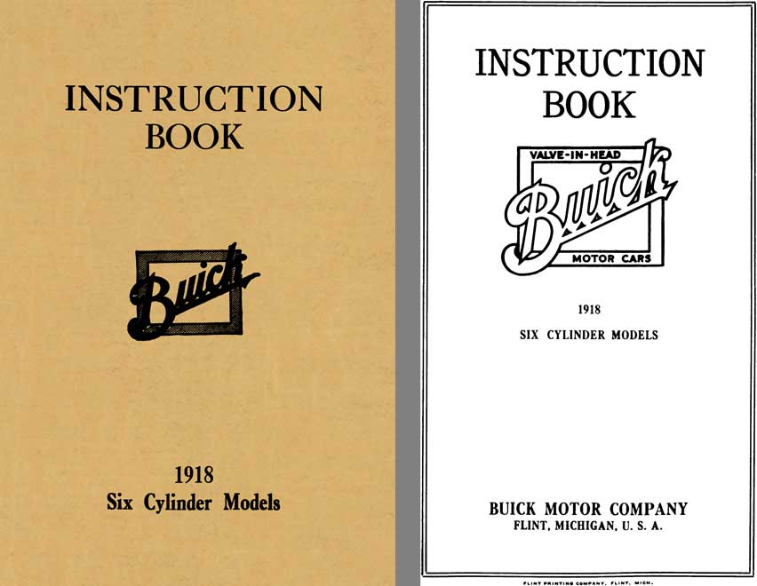 Buick 1918 - Instruction Book 1918 Six Cylinder Models