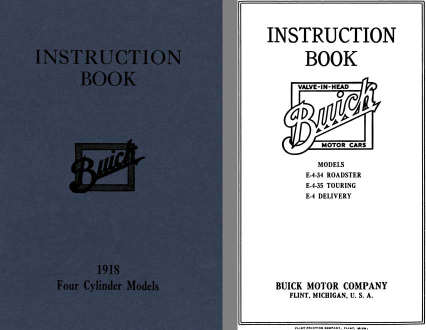 Buick 1918 - Instruction Book Buick 1918 Four Cylinder Models