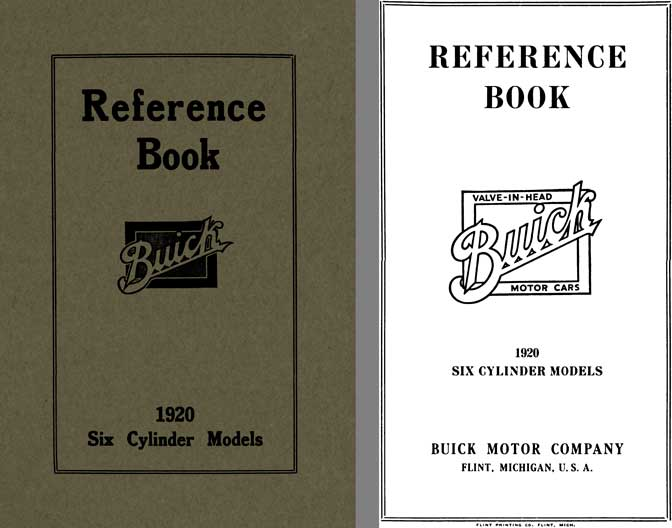 Buick 1920 - Reference Book Buick 1920 Six Cylinder Models
