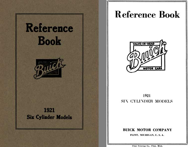Buick 1921 - Reference Book Buick 1921 Six Cylinder Models