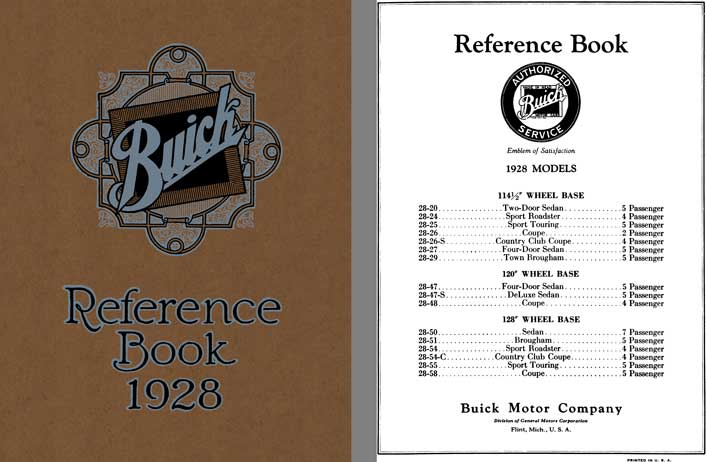 Buick 1928 - Buick Reference Book 1928 Models