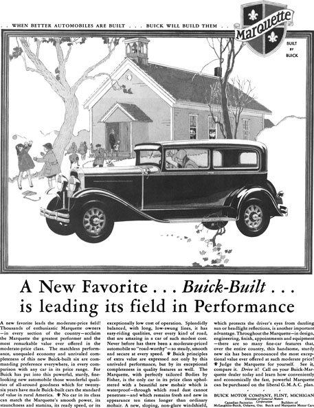 Buick 1929 - Buick Ad - A New Favorite… Buick Built… is leading its field in Performance