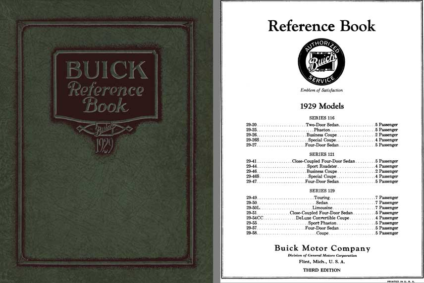 Buick 1929 - Buick Reference Book 1929