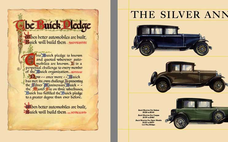 Buick 1929 - The Buick Pledge - Buick Master Six