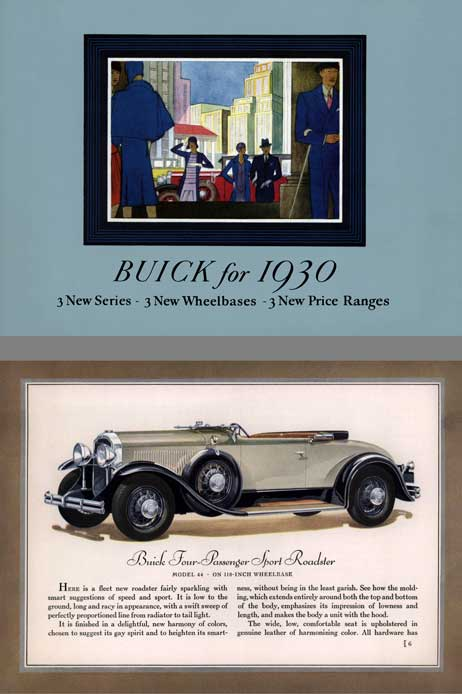 Buick 1930 - Buick for 1930 3 New Series 3 New Wheelbases 3 New Price Ranges (36pgs)