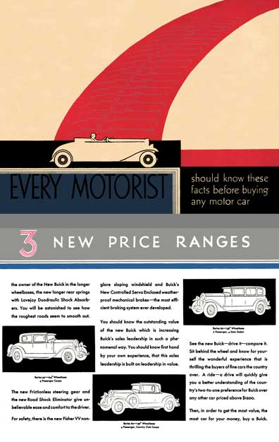 Buick 1930 - Every Motorist Should Know These Facts Before Buying Any Motor Car