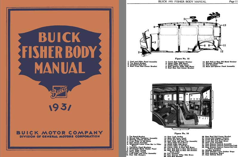 Buick 1931 - Buick Fisher Body Manual 1931