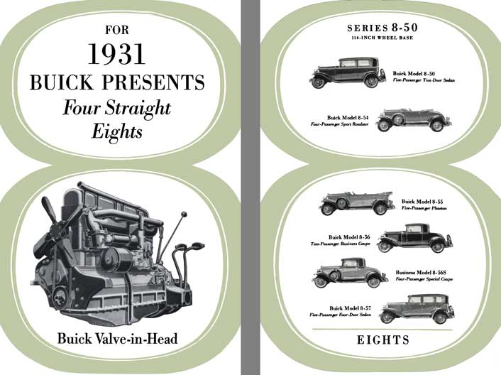 Buick 1931 - For 1931 Buick Presents Four Straight Eights - Buick Valve-In-Head