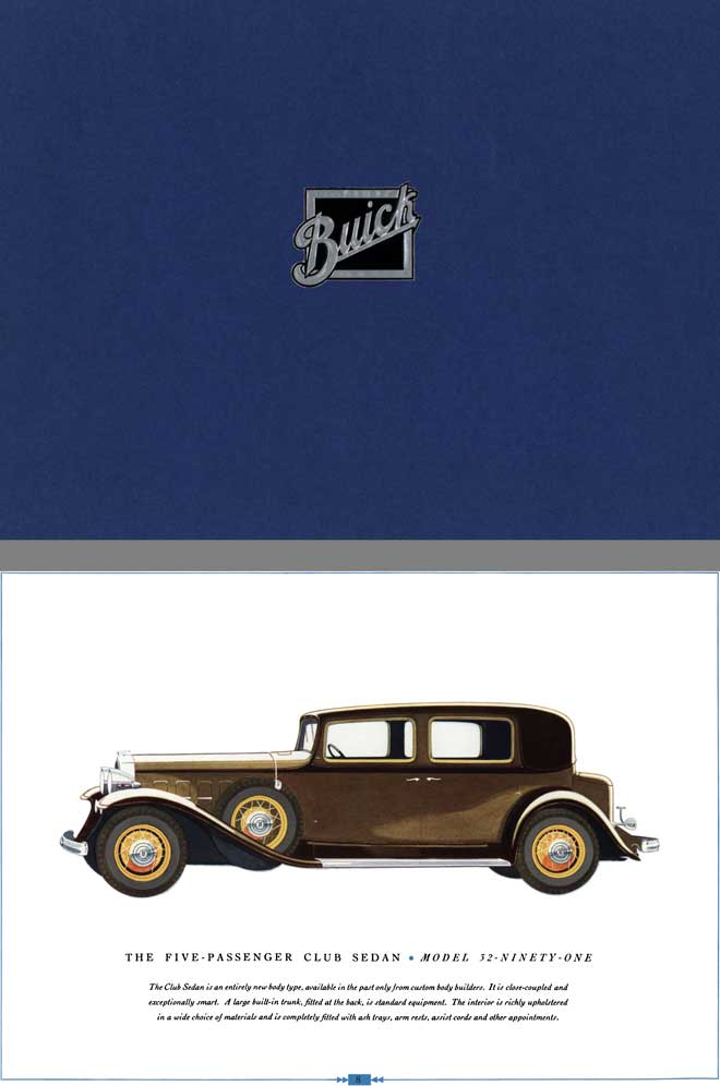 Buick 1932 - The Buick Eight for 1932 Series 90 - 80 -60 The Outstanding Buick of All Time