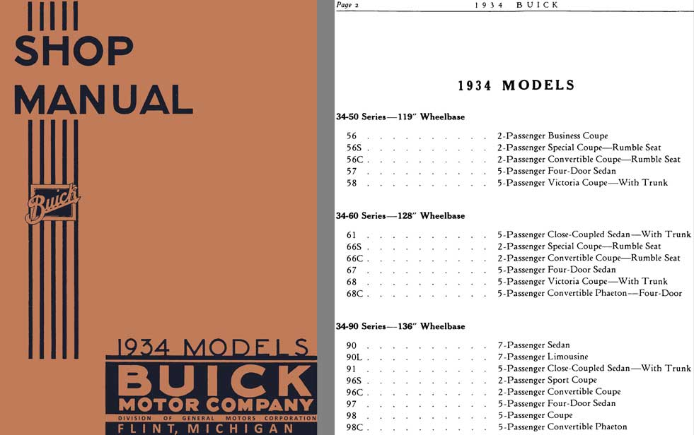 Buick 1934 - Shop Manual Buick 1934 Models