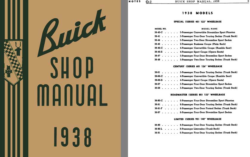 Buick 1938 - Buick Shop Manual 1938