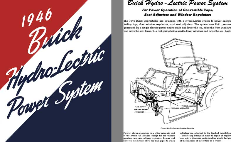 Buick 1946 - 1946 Buick Hydro-Lectric Power System (for Convertible Models)