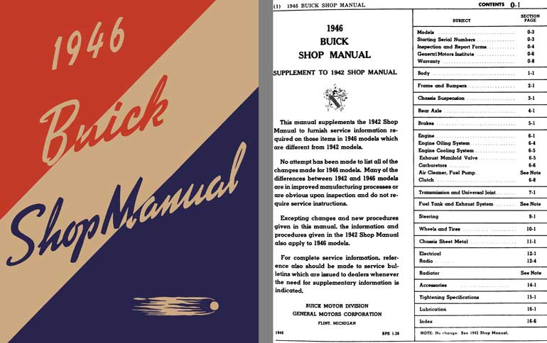 Buick 1946 - 1946 Buick Shop Manual (Supplement to 1942 Shop Manual)