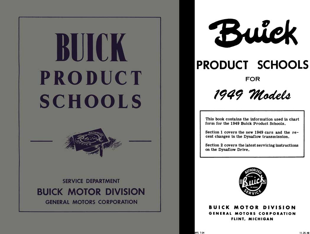 Buick 1949 - Buick Product Schools for 1949 Models