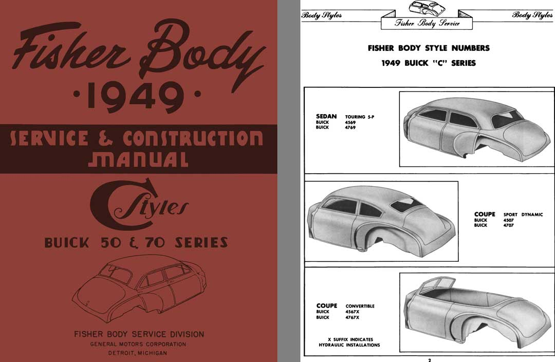 Buick 1949 - Fisher Body 1949 Service & Construction Manual - C Styles Buick 50 & 70 Series