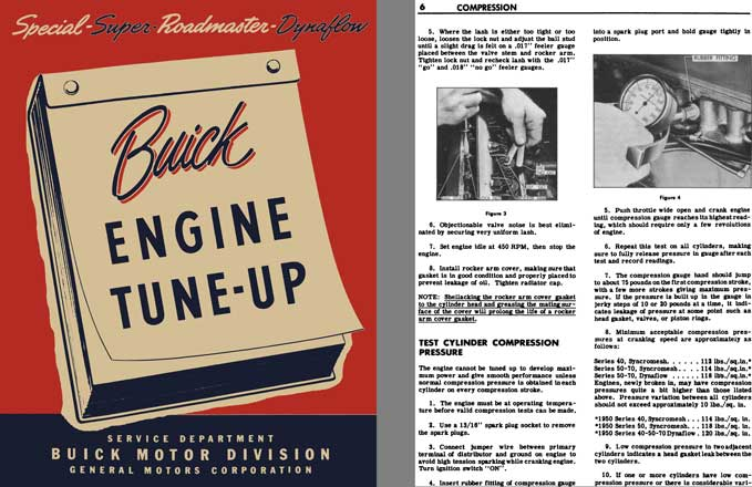 Buick 1950 - Buick Engine Tune-Up Manual - Buick Special, Super, Roadmaster, Dynaflow