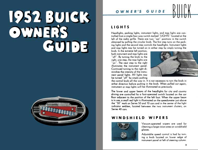 Buick 1952 - 1952 Buick Owner's Manual