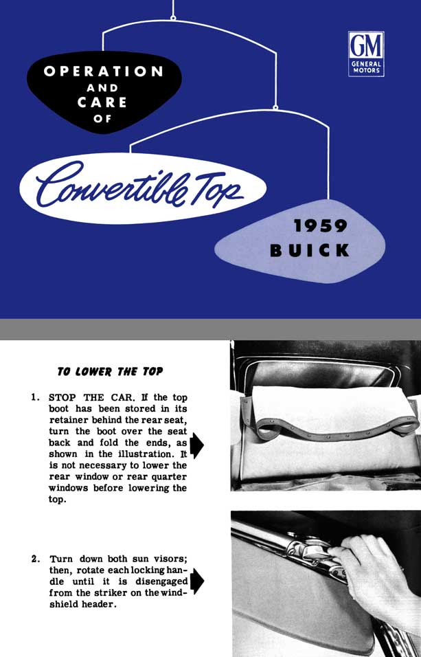 Buick 1959 - Operation and Care of Convertible Top 1959 Buick