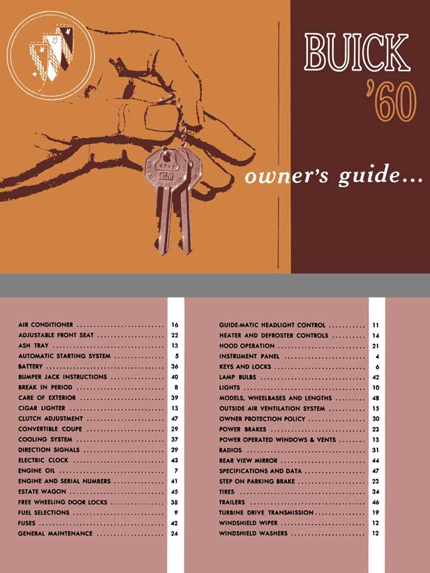 Buick 1960 - Buick '60 Owner's Guide