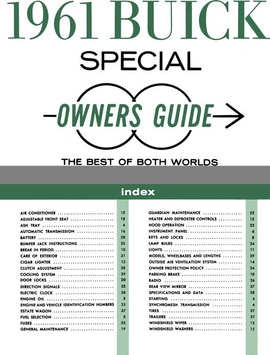 Buick 1961 - 1961 Buick Special Owners Guide - The Best of Both Worlds