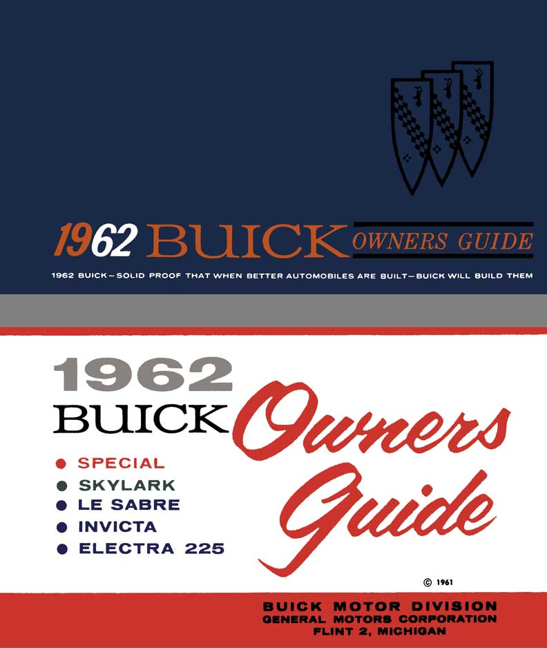 Buick 1962 - 1962 Buick Owners Guide