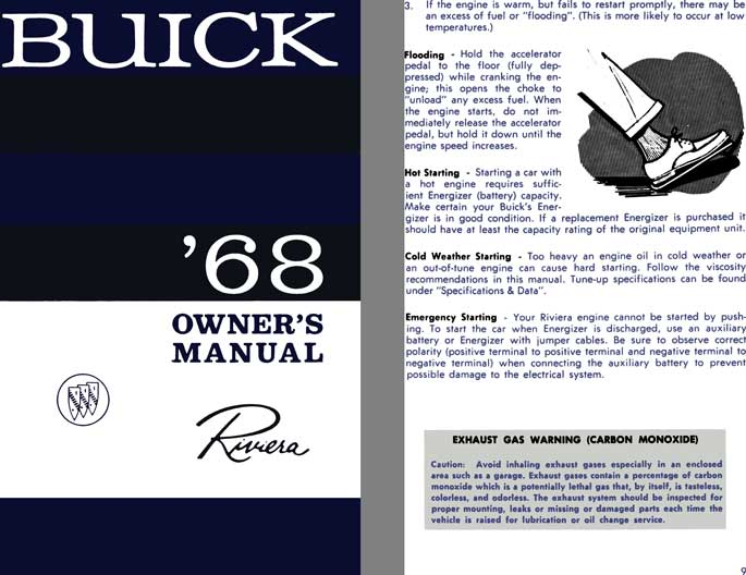 Buick Riviera 1968 - Buick '68 Owner's Manual Riviera