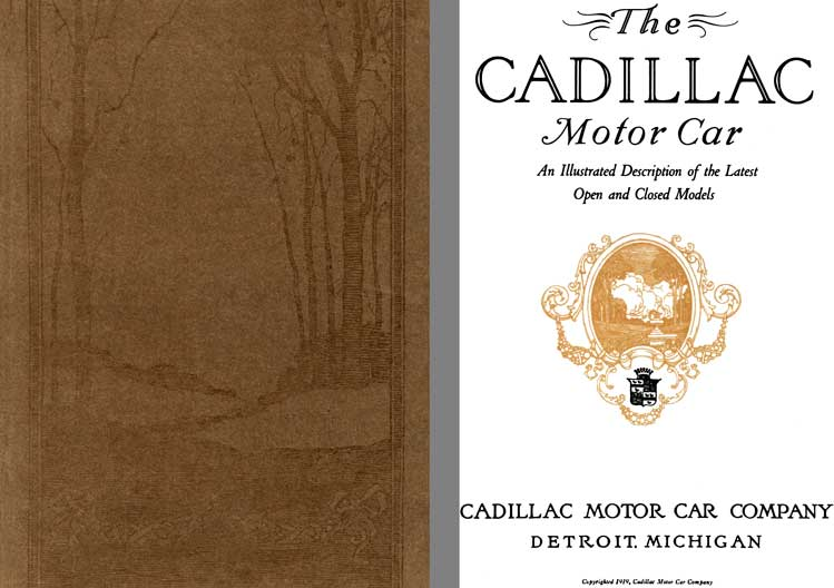 Cadillac 1920 - The Cadillac Motor Car- An Illustrated Description of the Latest Open & Closed Model