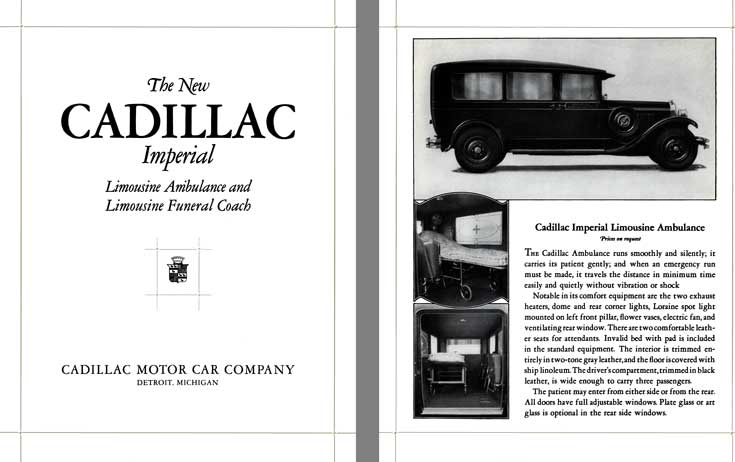 Cadillac 1928 - The New Cadillac Imperial - Limousine Ambulance & Limousine Funeral Coach
